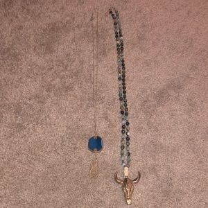 Jewelry - Bundle of Necklaces (Stone & Bull Head)